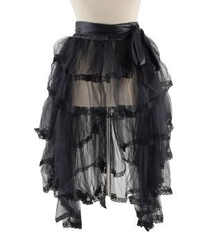Maker's Halloween Adult High Low Wrap Tutu Costume-Black
