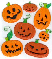 Jolee's Boutique Dimensional Stickers-Funny Pumpkins, , hi-res