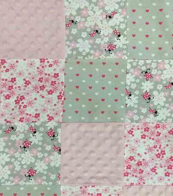 "Nursery Fabric 44""-Lady Bug Patchwork Quilt"