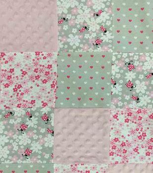 Nursery Fabric Lady Bug Patchwork Quilt