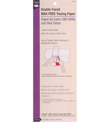"""Dritz Double Face Tracing Paper-3""""x19"""" 5 Sheets"""