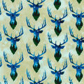 Novelty Cotton Fabric-Stag Night Exposure
