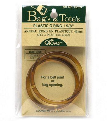 """Clover Tortoise Plastic O Ring-1-5/8"""" 2/Pkg"""