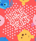 Dinsey Tsum Tsum Fleece Fabric 59\u0022-Bring on the Fun