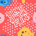 Disney Tsum Tsum Fleece Fabric-Bring on the Fun