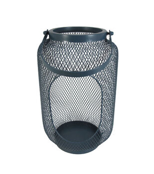Seaport Large Metal Canister-Navy