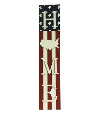 Americana Patriotic Porch Sitter-Home