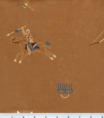 Alova Suede Fabric -Cave Painting