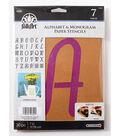 FolkArt 30 pk 7\u0027\u0027 Alphabet & Monogram Paper Stencils-Italic