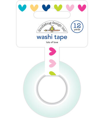 Doodlebug Design Washi Tape 0.5''x12 yds-Lots of Love