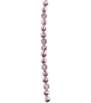 hildie & jo Strung Beads-Rose Faceted Glass Beads