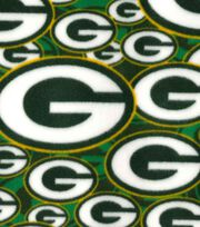 "Green Bay Packers Fleece Fabric 58""-Logo, , hi-res"
