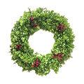 Handmade Holiday Christmas 24\u0027\u0027 Boxwood & Red Berry Wreath