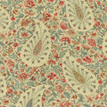 Waverly Upholstery 8x8 Fabric Swatch-Paisley Verveine/Bayberry