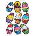 Cupcake Cuties Sparkle Stickers-Large 18 Per Pack, 6 Packs
