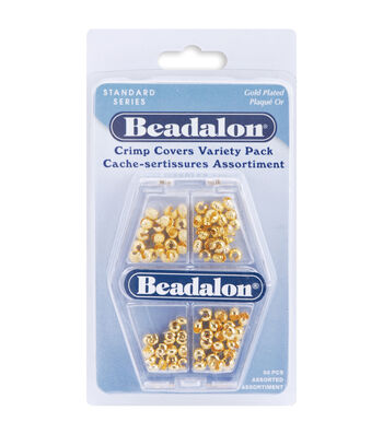 Beadalon Crimp Covers Variety Pack 80PK-Gold Plated