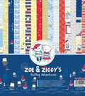 ScrapBerry\u0027s Zoe & Ziggy\u0027s Paper Pack 12\u0022X12\u0022-Sailing Adventures