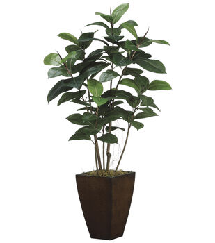 Bloom Room Luxe 52'' Rubber Plant-Green
