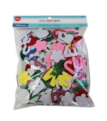 Little Makers Foam Alphabet Glitter-Primary