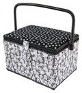 Large Rectangle Sewing Basket-Dogs