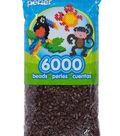 Perler 6000 Count Bead Bag-Brown