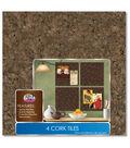 4pk 12x12 Dark Cork Tiles