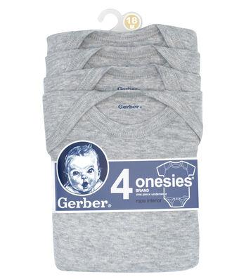 Gerber 4pk Gray Onesies 18M