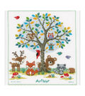 Vervaco Counted Cross Stitch Kit 11.25\u0022X14\u0022-In The Woods Record On Aida