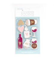 DCWV Home 8 Pack Letter Board Icons-Coffee & Wine, , hi-res