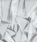 Kathy Davis Rayon Apparel Fabric -Mint Linear Strands