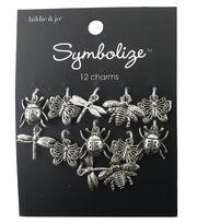 hildie & jo Symbolize 12 Pack Bug Silver Charms, , hi-res