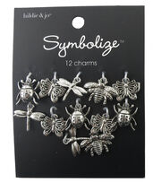 hildie & jo Symbolize 12 Pack Bug Silver Charms, , hi-res