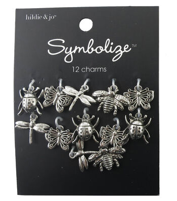 hildie & jo Symbolize 12 Pack Bug Silver Charms