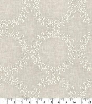 "Waverly Multi-Purpose Decor Fabric 54""-Ready to Roll Emb Linen"