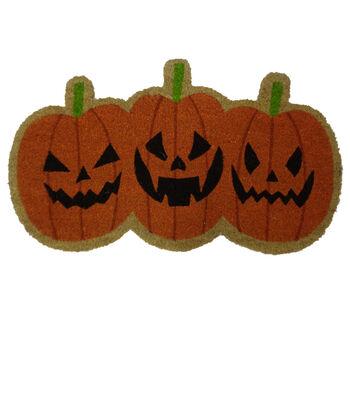 Maker's Halloween Pumpkin Shaped Coir Mat