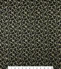 St. Patrick\u0027s Day Cotton Fabric -Shamrock Gold Metallic
