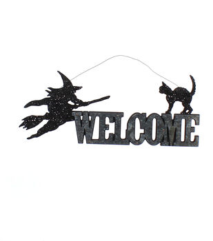 Maker's Halloween Galvanized Wall Decor-Welcome