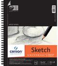 Canson Universal Spiral Sketch Book 9\u0022X12\u0022-100 Sheets