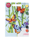 Paint Works Paint By Number Kit 9\u0022X12\u0022-Butterflies & Bamboo