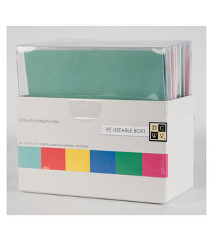 """DCWV 5-1/2""""x5-1/2"""" Box of Cards and Envelopes: Brights"""