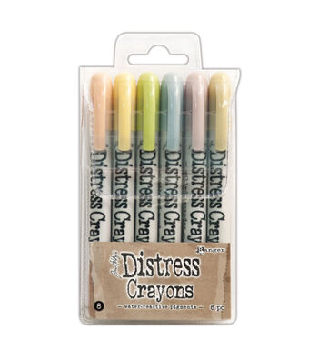 Tim Holtz Pack of 6 Distress Crayons-Set #8