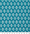 Robert Allen @ Home Print Swatch 55\u0022-Shayna Ikat Turquoise