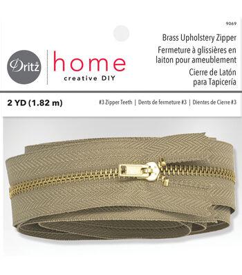 """Dritz Home Brass Zipper Chain 0.56""""x72"""""""