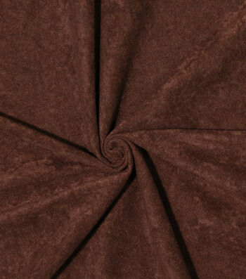 Halloween Alova Suede Fabric 60''-Dark Brown