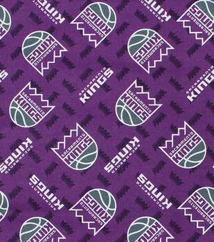 Sacramento Kings Cotton Fabric -Logo Toss
