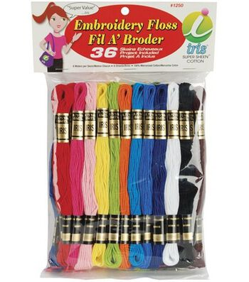 Cotton Embroidery Floss-Primary/36 Skeins