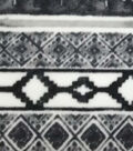 Specialty Luxe Fleece Fabric 59\u0027\u0027-Black & White Geometrics
