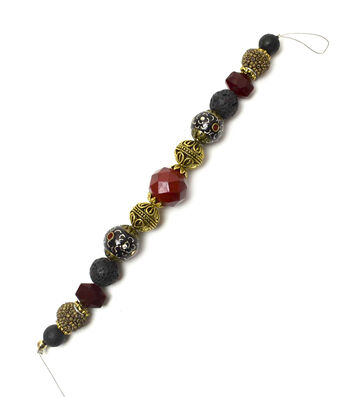 "Jesse James 7"" Strung Beads-Hawaiian Lava Rock Beads"