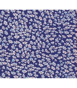 Keepsake Calico Cotton Fabric-Navy Tiny Picked Flowers