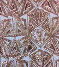 Casa Emblellish Sequin Fabric 54\u0022-Geo Triangle Rose Gold